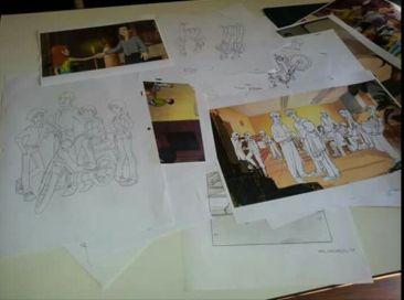 rosalba disegnando cartoni