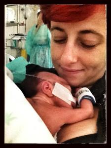 valentina e sirio appena nato