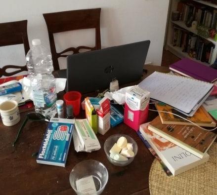 scrivania malata