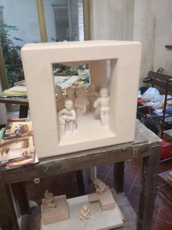 carlo scultura scena