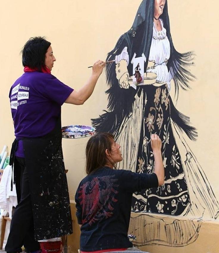 pina murales al lavoro