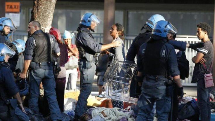 vittorio polizia sgombero