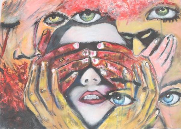 donne violenza quadro di Thomas Russo e Cristina Donati Meyer